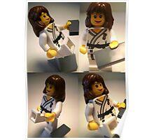 Judo Karate Martial Arts Girl Custom Minifigure  Poster