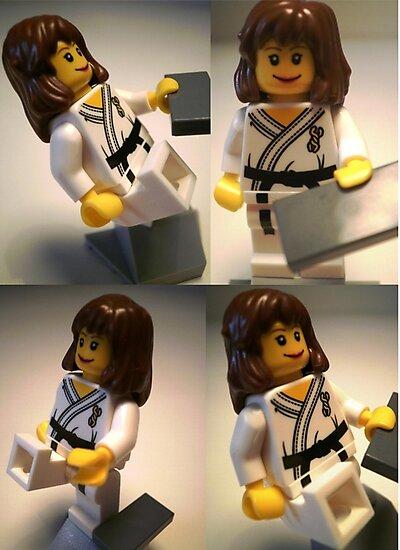 Judo Karate Martial Arts Girl Custom Minifigure  by Customize My Minifig