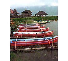 Bali Fishing Boats Photographic Print
