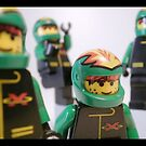 Motorcycle Stunt Team Minifigures by Customize My Minifig