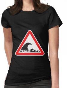 Tsunami Warning Womens Fitted T-Shirt