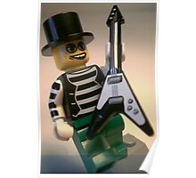 Emo, Goth, Punk, Band Guitarist Custom Minifigure Poster