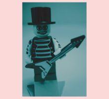 Emo, Goth, Punk, Band Guitarist Custom Minifigure One Piece - Long Sleeve