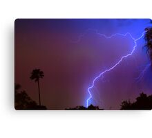 Lightning strike out Canvas Print