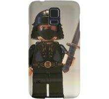 Black Japanese Samurai Warrior Minifigure / TMNT Shredder Custom Minifig Samsung Galaxy Case/Skin