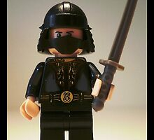 Black Japanese Samurai Warrior Minifigure / TMNT Shredder Custom Minifig by Customize My Minifig