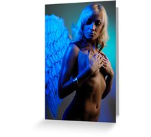 Young woman with angel wings Greeting Card