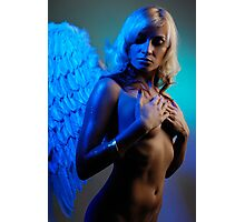 Young woman with angel wings Photographic Print