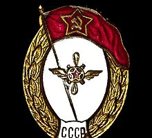 Vintage Soviet Red Army Officer Badge by yurix