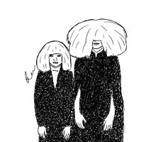 Sia and Maddie Grammy sketch by designedbybee