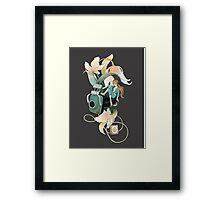 Thumbelina - grey Framed Print