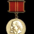 Soviet Red Army Officer Medal with Lenin on it by yurix