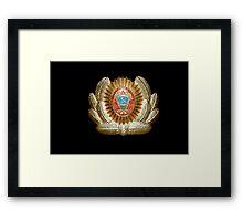 Soviet Red Army Officer Uniform Cap Badge Framed Print