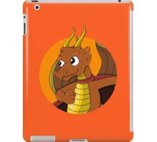 Cute orange dragon superhero cartoon iPad Case/Skin