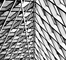 Seattle Public Library - B&W by Steve Cowell