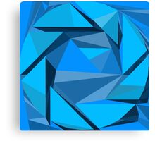 Aperture science geometric logo design Portal Canvas Print