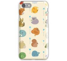 Animal Alphabet A-Z iPhone Case/Skin
