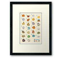 Animal Alphabet A-Z Framed Print