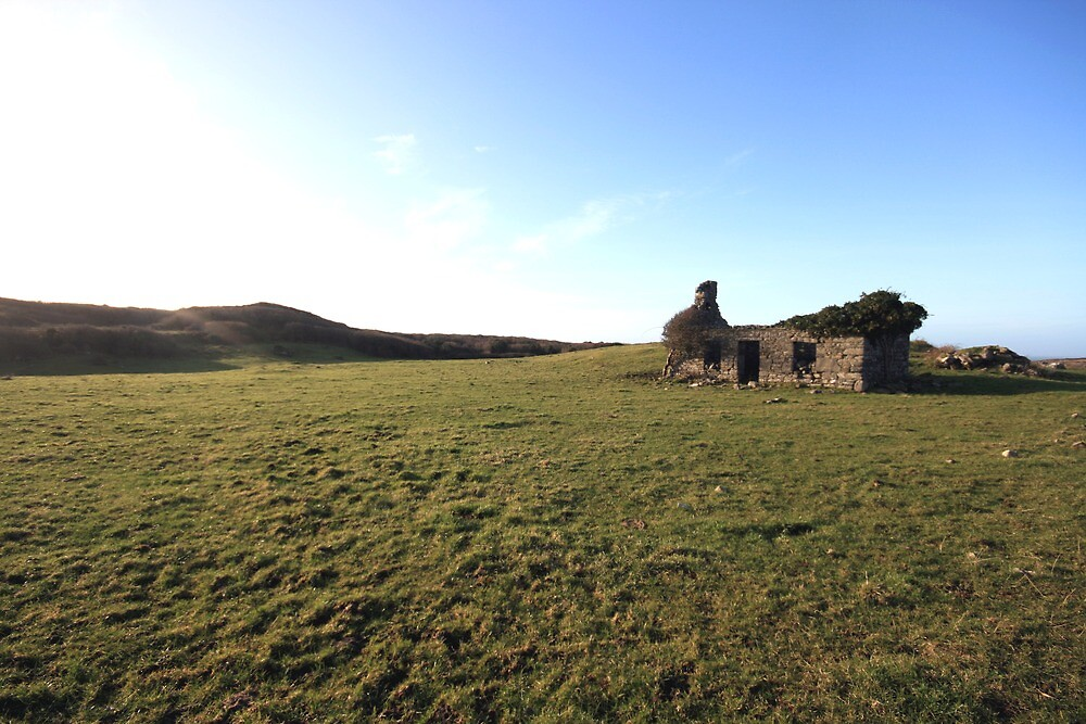 Fanore cottage ruins by John Quinn