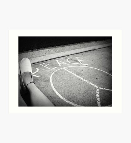 peace on the streets. Art Print