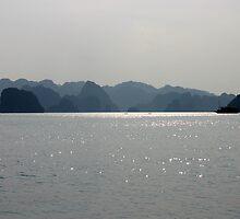 """""""Blues Hue's"""" - Halong Bay, Vietnam by Tamara Brown"""