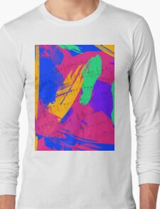 Wild Paint Brush Colors and Music Sheets Long Sleeve T-Shirt