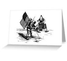 American Moon Landing Sketch Greeting Card