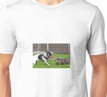 Dogs playing Unisex T-Shirt