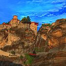 Monastery at Meteora by Kounelli