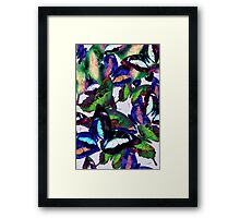 Abstracted Butterflies in Fauvist Colors #1 Framed Print