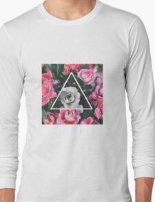 Color vs. black n white flowers  Long Sleeve T-Shirt