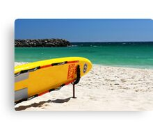 lifeguard surfboard Canvas Print