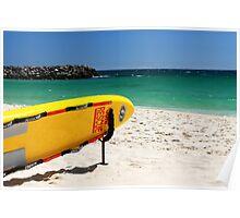 lifeguard surfboard Poster
