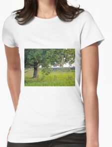Country scene Womens Fitted T-Shirt