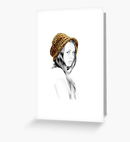 Coloured Hat Greeting Card