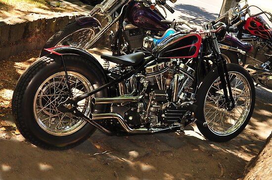Panhead Bobber by resin8n