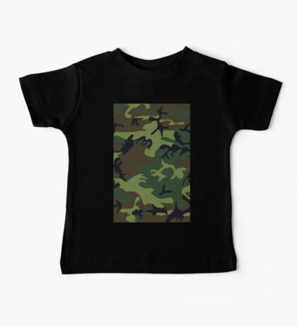 Army Camouflage by Chillee Wilson Baby Tee