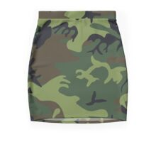 Army Camouflage by Chillee Wilson Mini Skirt