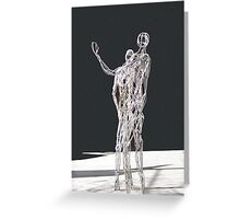 Silver Statues Greeting Card