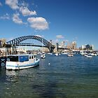 Sydney Harbour from Lavender Bay by Keith Robinson