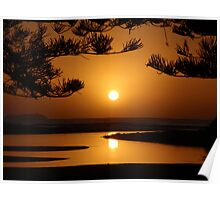 Natural Beauty of Moonee Beach Poster