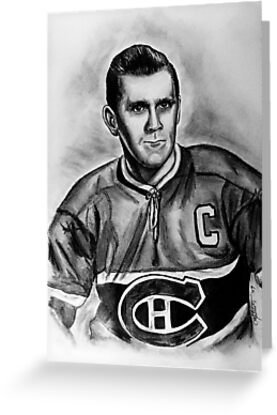 The Rocket - Portrait of a Great Hockey Player by CisforChristine