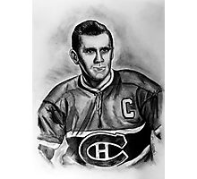 The Rocket - Portrait of a Great Hockey Player Photographic Print