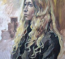 Portrait of artist's model by Alla Melnichenko