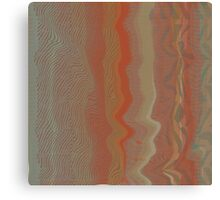 Geode Abstract:  Nature Pattern in Rust Red and Stone Grey 1 Canvas Print