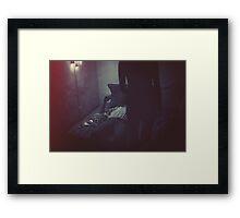 Late night conversation Framed Print