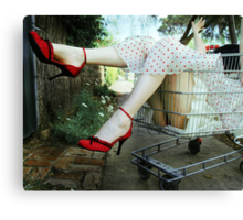 Grocery Diva Canvas Print