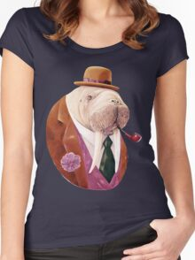 Worldly Walrus Women's Fitted Scoop T-Shirt
