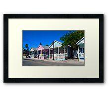 Key West Pastels Framed Print