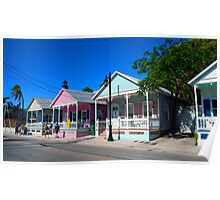 Key West Pastels Poster